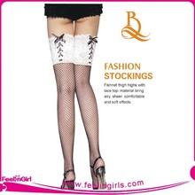 Fishnet Garter Belt with Thigh Highs