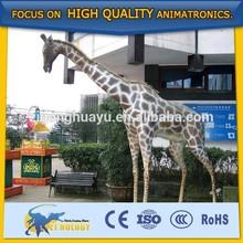 Park Decorative Modern Large Lifesize Fiberglass Animal Statue Giraffe