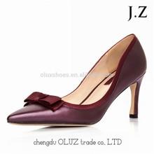 OP30 pink high heel china evening shoes for women