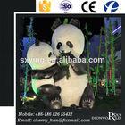 SXY Dinoworld Amusement Park Fiberglass Life Size Panda Figures