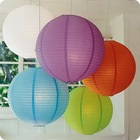 2014 most popular and best Eco-friendly muti-colorful steel wire frame wedding chinese paper lantern