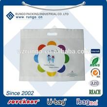 Eco Heat Transfer Print non woven polypropylene die cut Tote Bag, non-woven bag