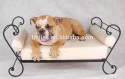 wrought iron design dog bed, metal sofa pet bed, custom cat bed