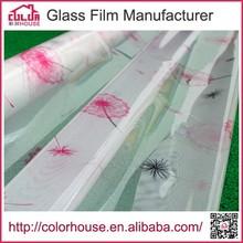 new self-adhesive decorative glass glue for pvc film
