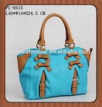 2015 latest arrival fashion elegant college girls handbag make in China factory