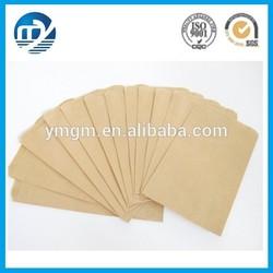 Kraft paper bag with tear notch/three side seal kraft paper bag