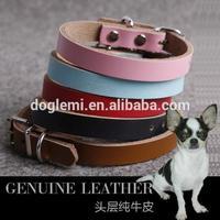 Fashion Designer Dog Collars Sexi Dog Geniune Leather Dog Collar for Sale