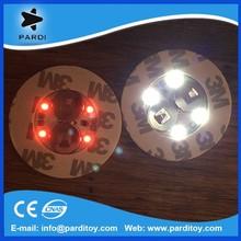 Promotional adhesive led flashing coaster bottle sticker