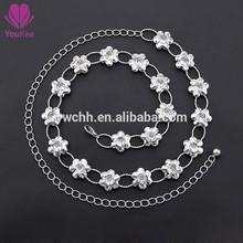 Silver waist chain belt fashion metal chain belt