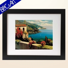 2015 Home Decoration Printed Seascape framed oil painting
