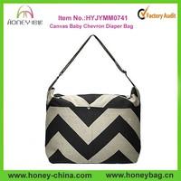 Custom Design Mommy Bag Canvas Wholesale Chevron Diaper Baby Bag