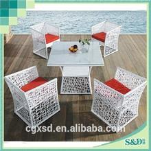 S.D Steel Frame Rattan Handmade Seaside Cafe Courtyard Patio Leisure Life Outdoor Furniture