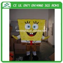Hot slae sponge bob mascot costume/sponge bob mascot/ mascot costume for activities