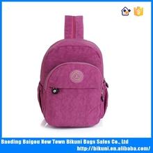 Suitable for teens outdoor colorful nylon shoulder bag school backpack for students messenger nylon bag