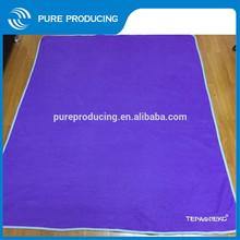 Promotion purple embroidery polar fleece blanket