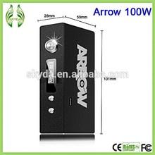factory wholesale price box mod arrow 100w mod best box mod with 2 18650 batteries