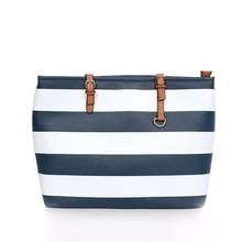 cross stripe custom women canvas tote bag