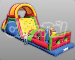 Colorful giant inflatable obstacle/inflatable obstacle course for fun