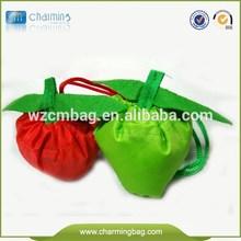 Folding Polyester fruit shape folding reusable bags with logo