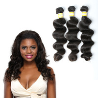 Free Shipping 2015 Year High Quality 12 14 16 Inch Loose Wave Peruvian Human Hair