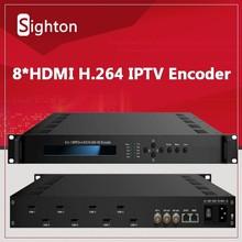 H.264 HD Cable TV Digital Encoder ( 8 in 1 ), HDMI to IP Encoder