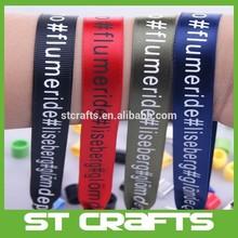 Festival party custom polyester wristband /woven bracelet wristband /heat transfer printed wristband