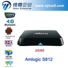 Amlogic S812 Dual Band 2.4GHz/5.0GHz Wi-Fi DTS AC3 Quad core Android4.4 2GB/8GB XBMC m8 android 4.4 android tv box