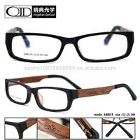 carved color wooden temple newest trend design optical glasses 88019