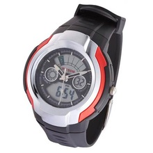 2 movements Fashion wrist sports watch with 7-colorful lights, 50M water resistant
