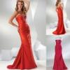 Latest design taffeta floor length strapless evening gown 2012