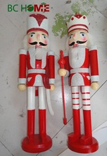 "2015 New 14"" Wooden Nutcracker soldier Red and White"