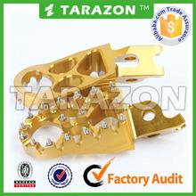 Tarazon made high quality CNC foot pegs for dirt bike