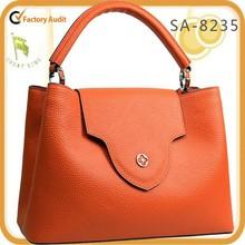 new arrival !2015 brand unique design fashion100% genuine leather tote/shoulder bag direct factory supply