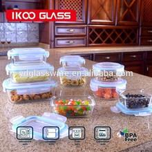 Heat Preserving transprent glass food container / storage, box, jar, bin