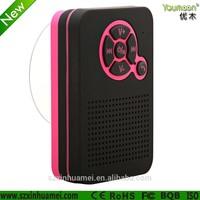 Mini Portable Hybrid Waterproof Bluetooth Wireless Stereo Speakers & FM Radio with Hook best for Showers, Bathroom, Pool