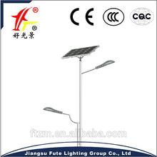 Solar led street light 36W + 15W, outdoor fixture,gel battery, solar panel & galvanized and plastic coated lighting poles