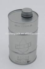 450ml round metal oil tin can screw opening metal cap