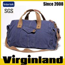 2015 new product Virginland 100% cotton vintage washed canvas duffel bag travel bag fancy travel duffel bag