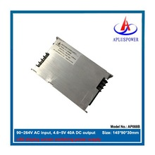 ac to dc led driver, dc 4.6~5V adjustable 200W, 90~264V AC input, CE
