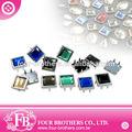 13x13 de cristal flatback rhinestone tacos de prendas de vestir accesorios del fabricante