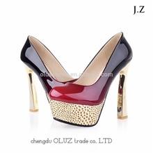 OP22 leopard heels evening shoes for women