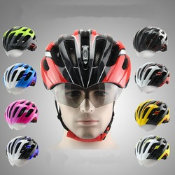 CIGNA Mountain Bike cycling helmet Integrated molding helmet With glasses Goggles Helmet cycling equipment Men and women