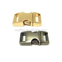 colored metal 5/8'' paracord buckles/quick release buckles/metal breakaway buckles