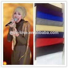 2015 new glitter muslim hijab islamic long scarf,long shawls hw089a