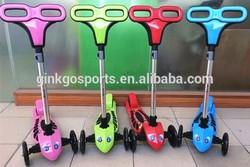 3 wheel mini micro child folding rear brake kick scooter for kids