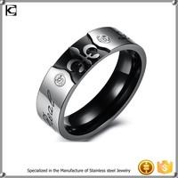 316l Stainless steel black new model wedding love ring