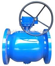 Full welded ball valve/gear operated bal valve/heater valve/hot water bal valve/heating pipeline valve/Flange valve DN200 (8'')