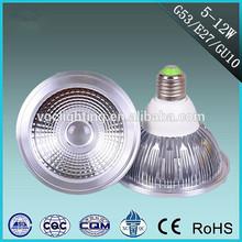 New design online wholesale high quality aluminum G53/E27/GU10 base 5-12W led AR111 spotlight shell