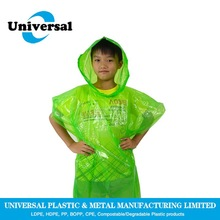 Customized Mater-Bi Green Rain Poncho