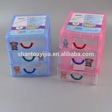 17 cm 3 Layers cartoon plastic mini storage drawer